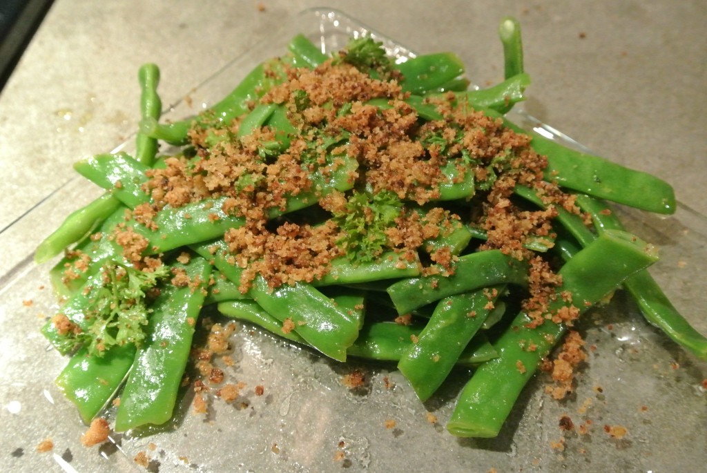 Lemony Green Beans with Garlic and Breadcrumbs