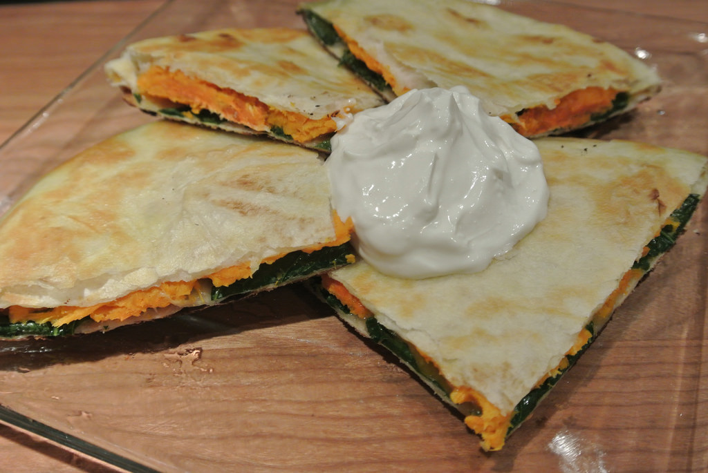 Sweet Potato and Kale Quesadilla