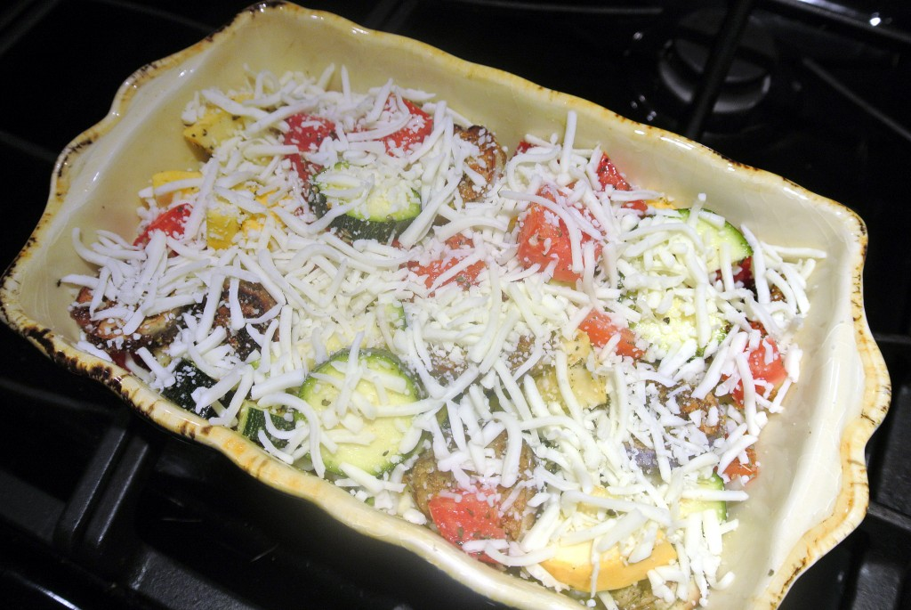 Cheese zucchini and squash bake