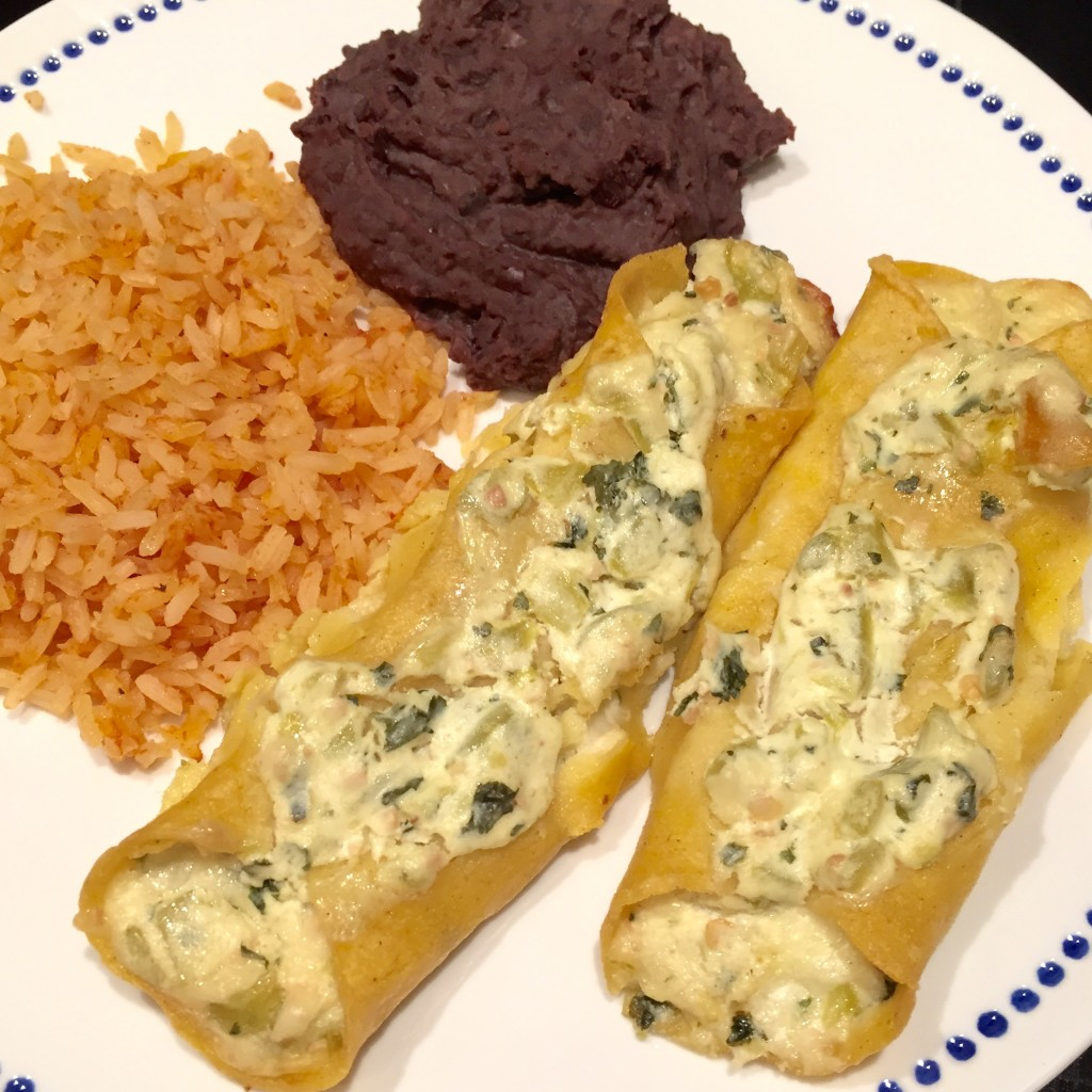Green Chile and Cheese Enchiladas