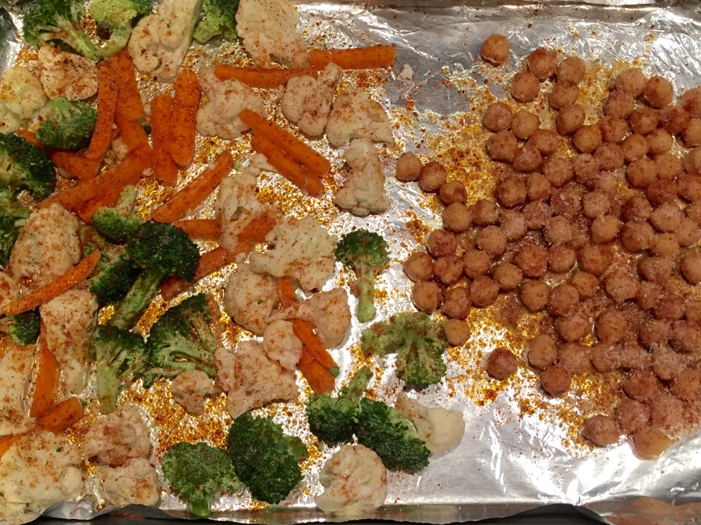 Roasted Veggies and Chickpeas